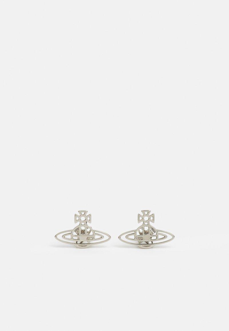 Vivienne Westwood - THIN LINES FLAT ORB STUD EARRINGS - Earrings - silver-coloured