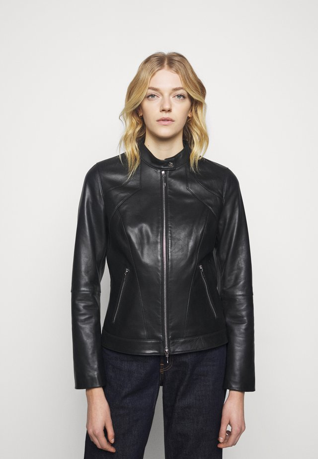 LAJESA - Kožená bunda - black