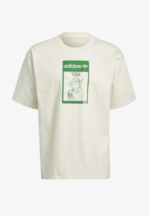 TEE YODA - T-shirt z nadrukiem - white