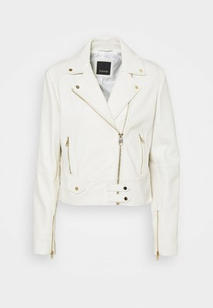 SENSIBILE CHIODO - Leather jacket - white