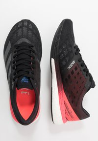 adidas Performance - ADIZERO BOSTON 9 - Competition running shoes - core black/signal pink - 1