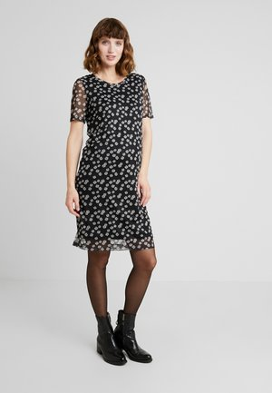 DRESS FLOWER - Žerzejové šaty - black