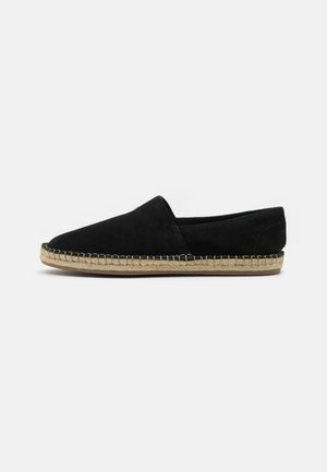 LEATHER UNISEX - Espadrilles - black