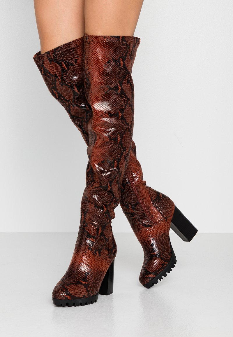 RAID Wide Fit - WIDE FIT VERONA - High Heel Stiefel - burgundy