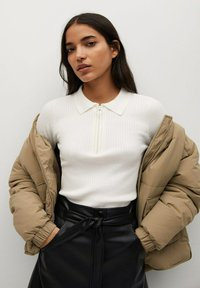 Mango - Leather skirt - černá - 3