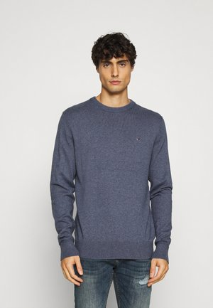 PIMA CREW NECK - Strickpullover - blue