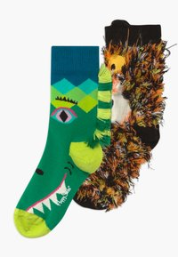 Happy Socks - KIDS IMAGE PIECES 2 PACK - Calcetines - green/brown - 0