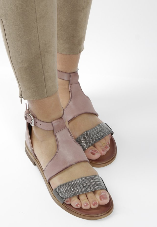 Ankle cuff sandals - light pink