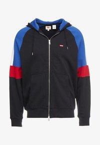 Levi's® - PIECED FULLZIP HOODIE - Collegetakki - hoodie black/ sodalite - 4