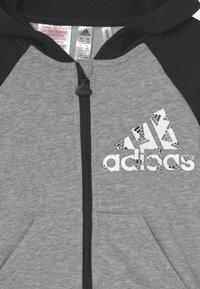 adidas Performance - LOGO SET UNISEX - Chándal - medium grey heather/black/white - 3