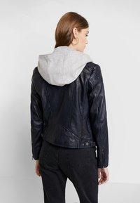 Gipsy - ANGY LAMAS - Leather jacket - dark navy - 2