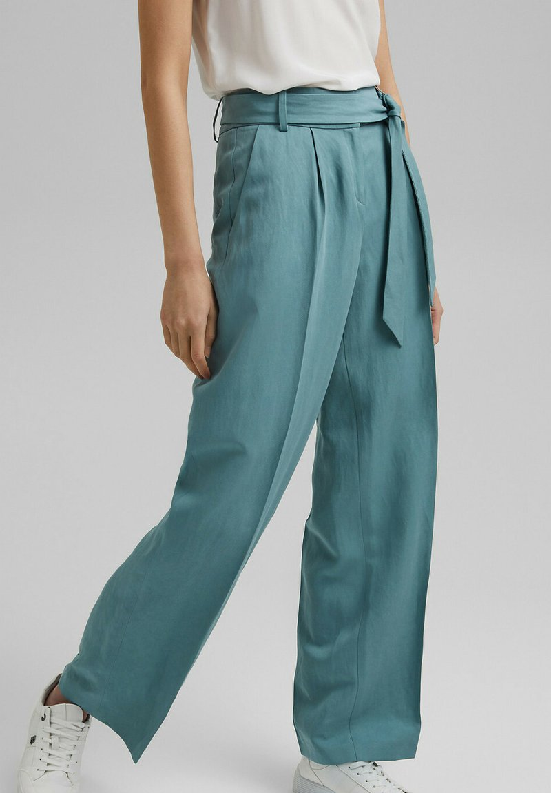 Esprit Collection - Trousers - dark turquoise