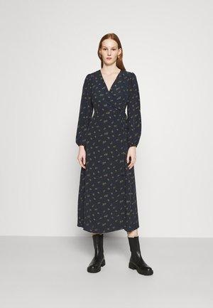 LONG SLEEVE WRAP DRESS WITH V NECK - Maxi šaty - olive rose