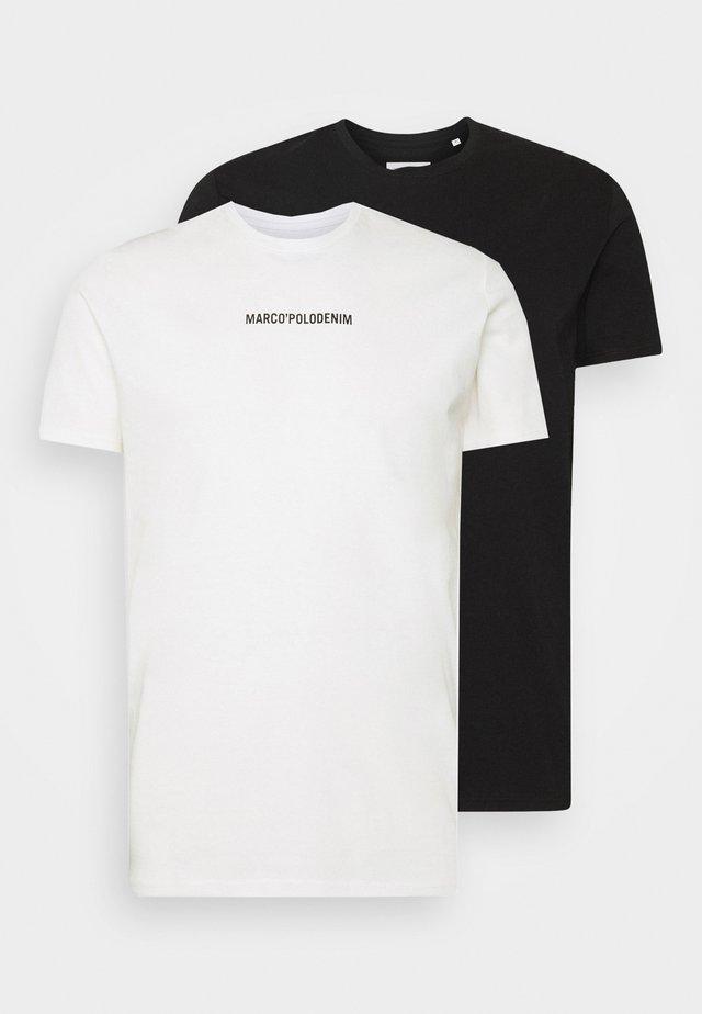 2 PACK - Print T-shirt - scandinavian white/black