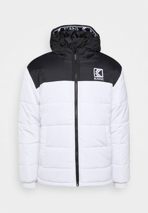 HOODED BLOCK PUFFER JACKET - Veste d'hiver - white