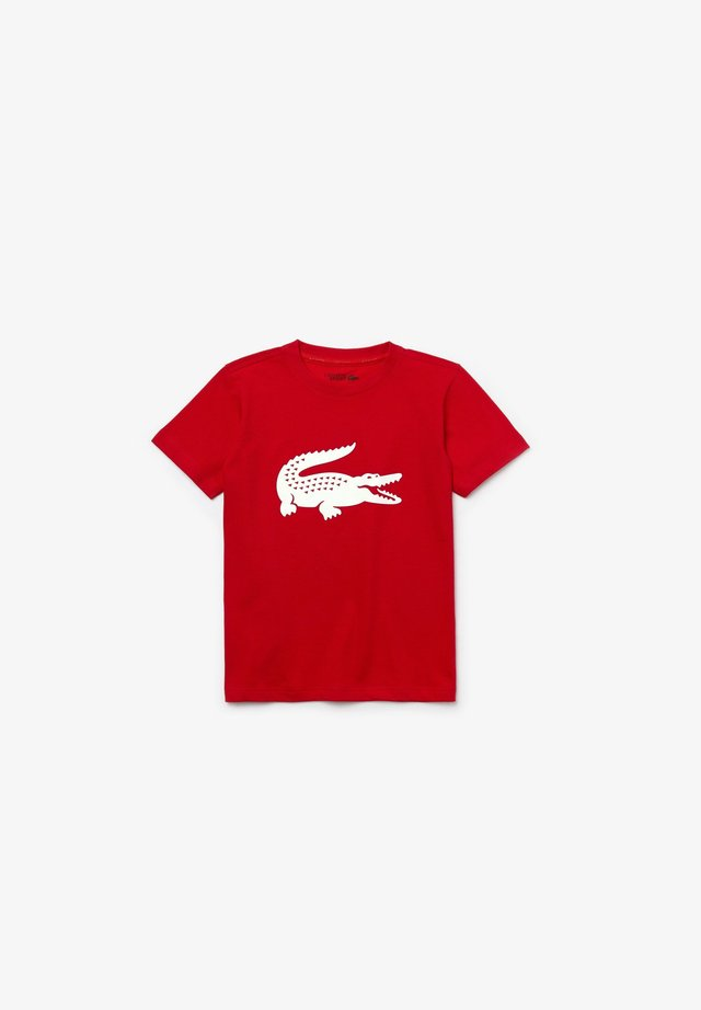 BIG LOGO UNISEX - T-shirt imprimé - red/white