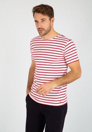 HOËDIC MARINIÈRE - T-shirt imprimé - blanc braise