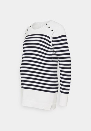 ELVIRA - Jumper - navy/ivory