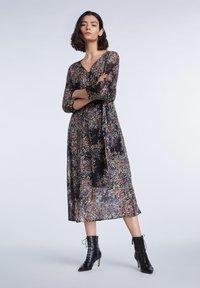 SET - Day dress - black violett - 1