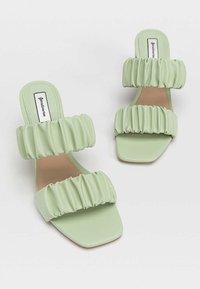 Stradivarius - High heeled sandals - mint - 3