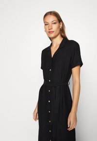 Mavi - SHORT SLEEVE DRESS - Shirt dress - black - 4