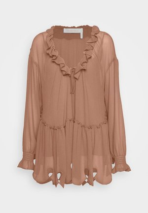 Blouse - blushy brown