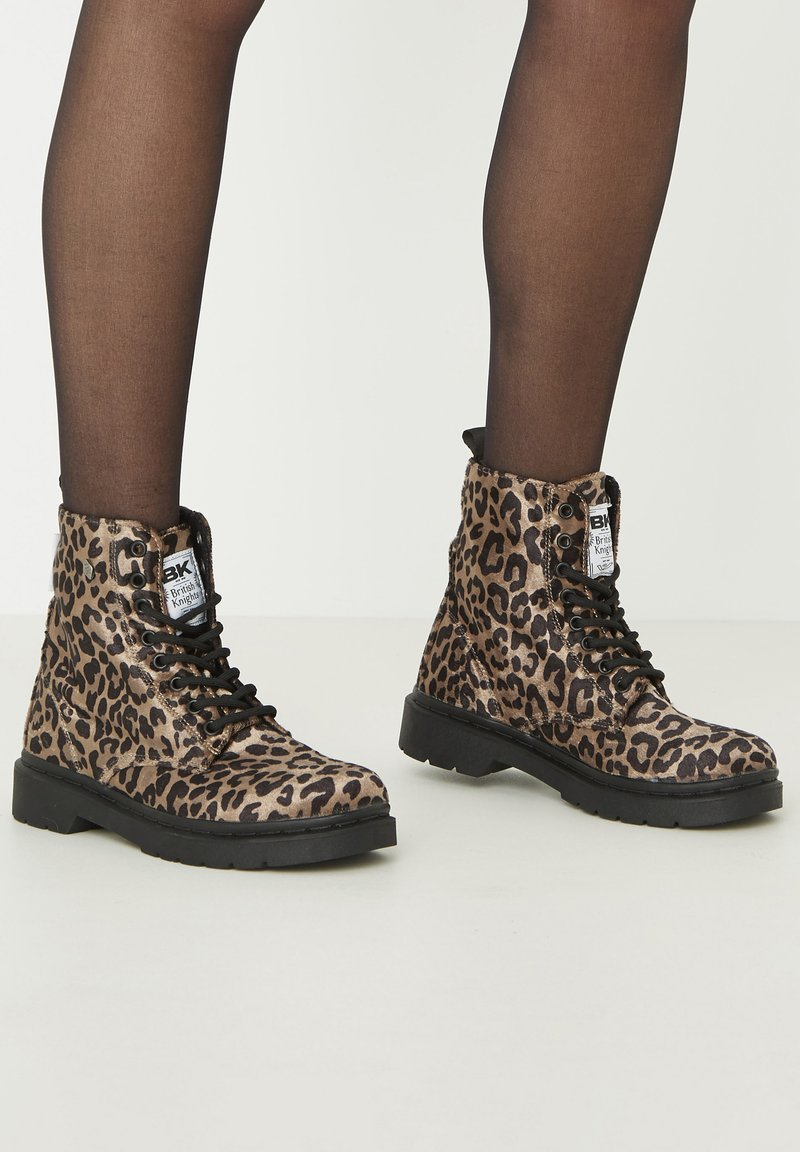 British Knights - SNEAKER BLAKE - Ankle boots - brown leopard