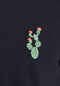 Burton Menswear London - EMBROID 2 PACK - Basic T-shirt - navy/khaki - 5