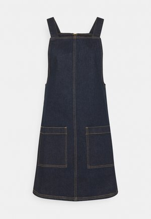 ESSENTIAL PINAFORE - Denim dress - dark blue wash