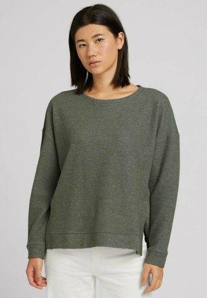 Sweater - dusty mid olive melange