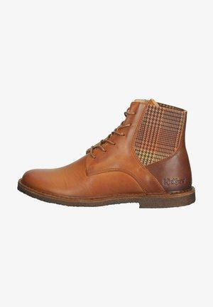 Lace-up ankle boots - orange camel