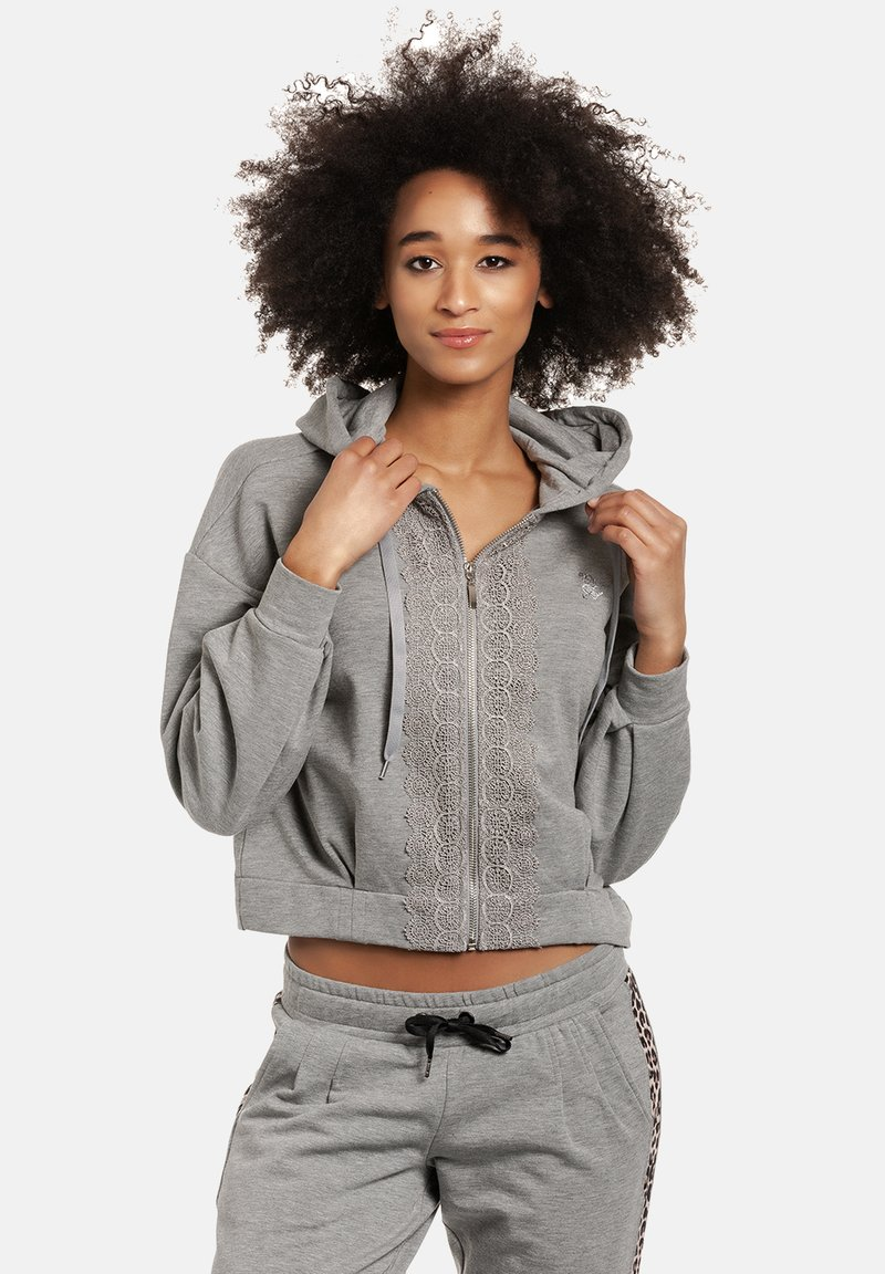 Vive Maria - Zip-up sweatshirt - grau meliert