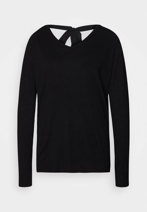 VERONIQUE GLAM SWEATER - Svetr - black