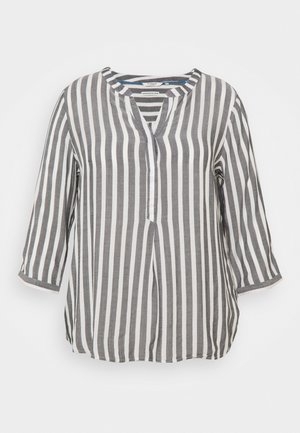 BLOUSE STRIPED - Long sleeved top - offwhite/navy