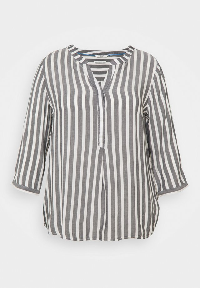 BLOUSE STRIPED - Longsleeve - offwhite/navy