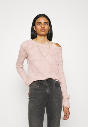 OPHELITA OFF SHOULDER JUMPER - Strikkegenser - rose