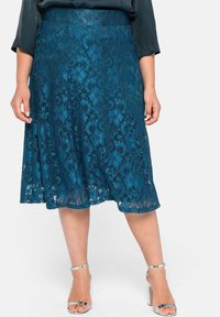 Sheego - A-line skirt - dunkelpetrol - 0