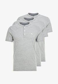 Abercrombie & Fitch - 3 PACK - T-Shirt basic - med grey - 4