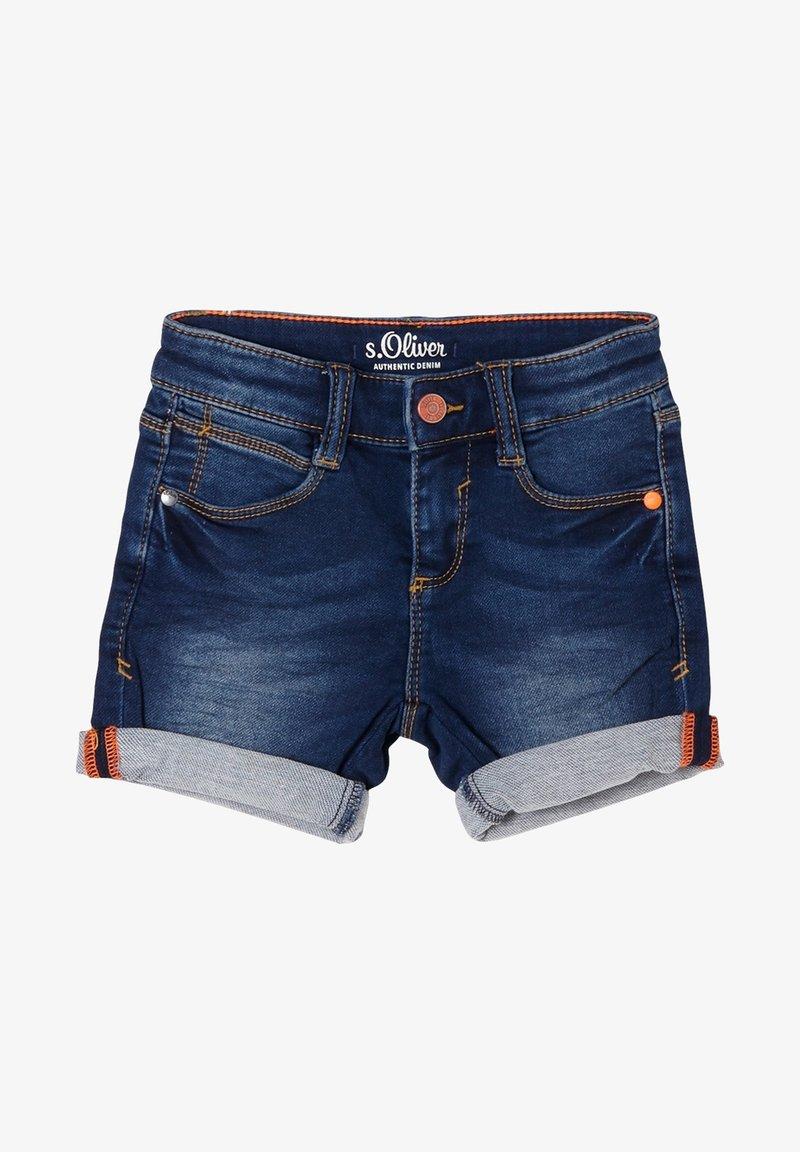 s.Oliver - BERMUDA  - Denim shorts - blue