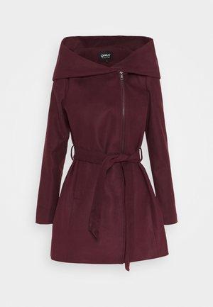 ONLCANE COAT - Short coat - bordeaux