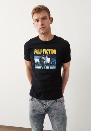 UNISEX - Print T-shirt - mottled black