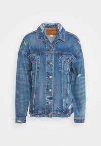 American Eagle - BOYFRIEND - Džínová bunda - blue denim - 4