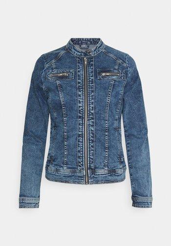 ONLTIA BANDIT BIKER JACKET - Jeansjakke - medium blue denim