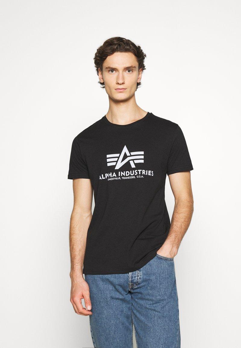 Alpha Industries - BASIC REFLECTIVE - Print T-shirt - black