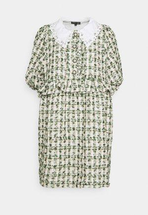 VANITY TWEED MINI DRESS - Shirt dress - green