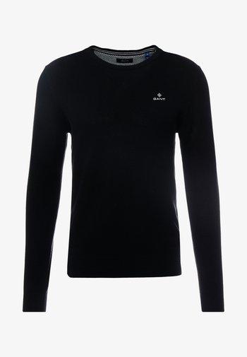 C NECK - Stickad tröja - black