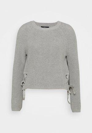 EYELET - Jumper - grey melange