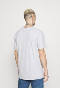 Quiksilver - MADE OF BONES - Print T-shirt - athletic heather - 2