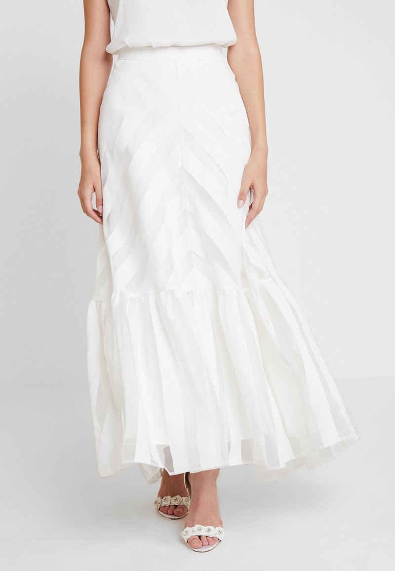 IVY & OAK BRIDAL - VOLANT SKIRT - Maxi skirt - snow white