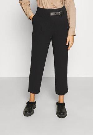 CLARA MODERN PANTS - Kalhoty - black